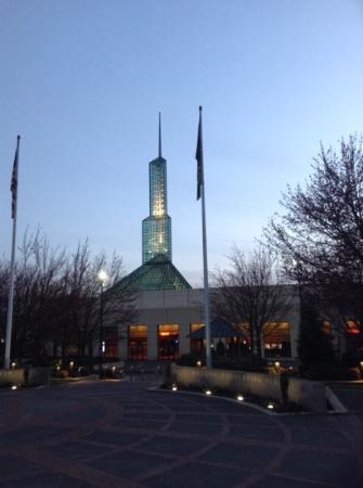 Oregon Convention Center: North end at dusk.