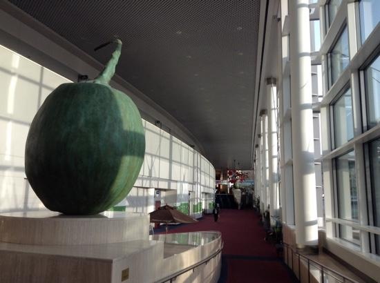 Oregon Convention Center: The giant orbs in the lobbies are ginkoberries.