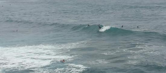 Paia, HI: The ocean was full with these wave catchers even on a rainy day!