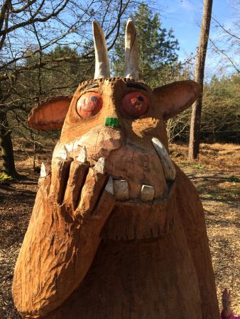 Alice Holt Forest: Gruffalo looking cheeky