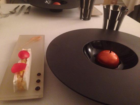 Manoir de la Boulaie : Un des deux desserts du menu parfums et saveurs