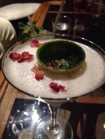 Bar Stories: Cointreau and lemon based cocktail with rose petals and optional salt!