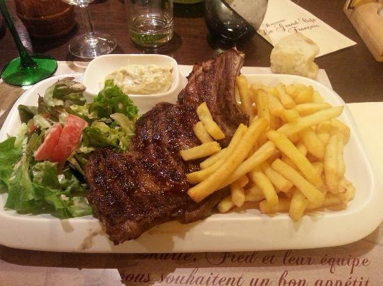 C te de boeuf grill e picture of brasserie le grand cafe - Accompagnement cote de boeuf grillee ...