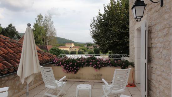 Hostellerie Clau del Loup: Roof terrace outside our room