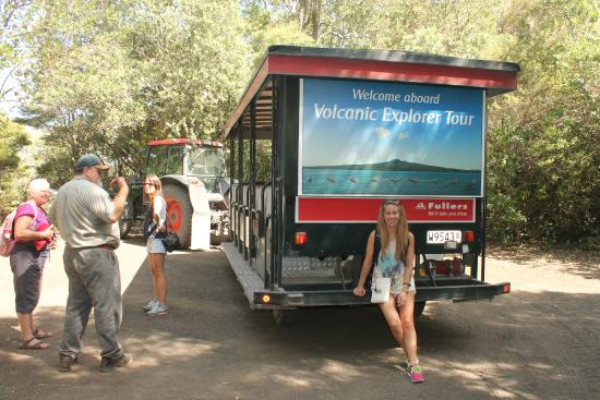 Fullers Rangitoto Volcanic Explorer Tour: Your tram around...sit at the back.