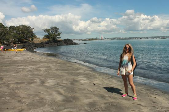 Fullers Rangitoto Volcanic Explorer Tour: On another day, kayak across the harbour to the only sandy beach on the island