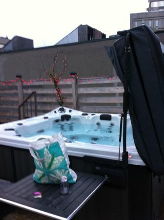Auberge du Carre St-Louis : roof top hot tub