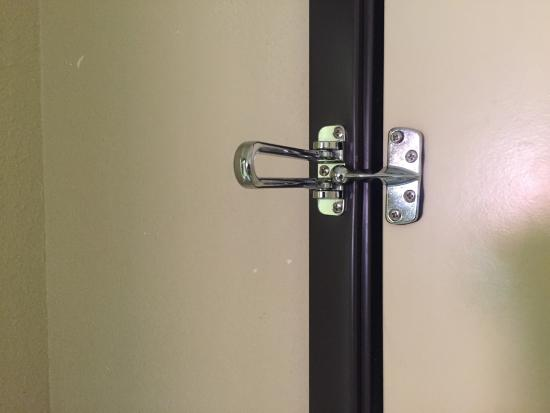 La Quinta Inn & Suites Canton: We could not use our security lock on the door because it did not line up property & would not l