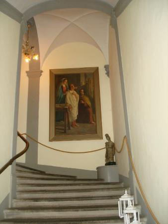 Villa Sonnino: on a stairwell