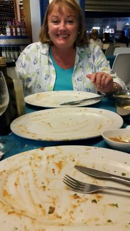 The Greek Restaurant and Wine Bar : These were the best prawns in town