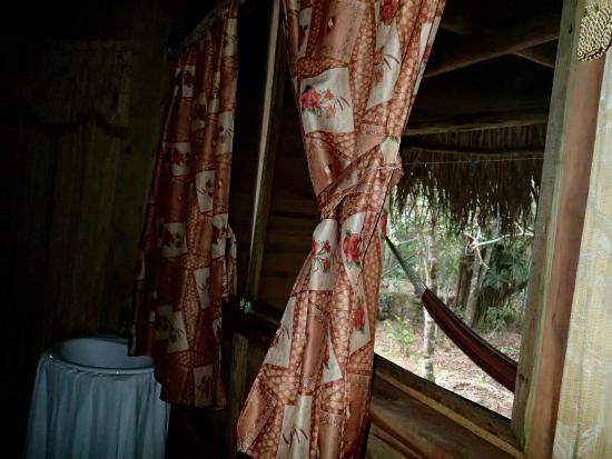 Yaxche Jungle Camp: view from inside cabana 1