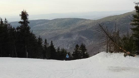 View from top of Bolton Valley ski runs