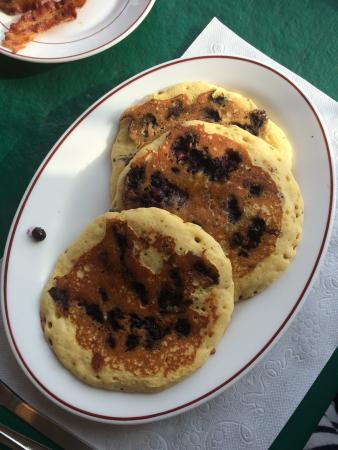 Madison, นิวยอร์ก: Delicious blueberry pancakes