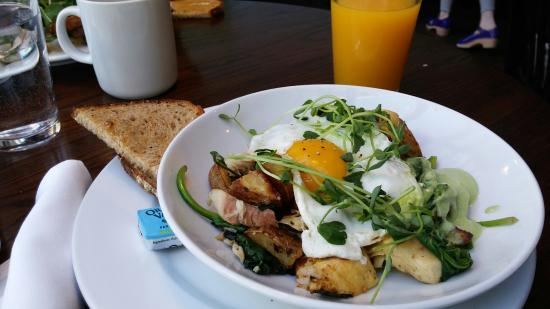 The Grove Cafe & Market : Breakfast special. Smoked trout hash.