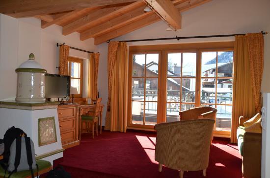 Hotel Gletscherblick: Suite familiale, salon