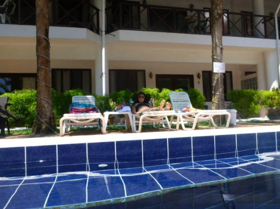 Villas Mymosa: View from in pool