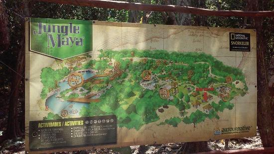 Playa del Carmen, Mexico: The map of the grounds