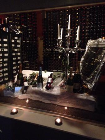 "Ledsham, UK: The wine "" cellar"" in the restaurant ., looks Lovely !"