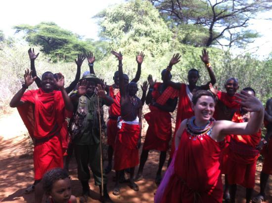 Bush Adventures- Maasai Warrior Training camp : a maasai goodbye