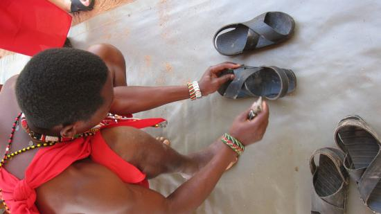 Bush Adventures- Maasai Warrior Training camp : custom made shoes to your feet
