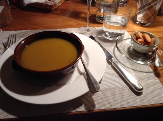Ristorante Mildas: Zu Zu Lé (vellutata di zucca peperoncino e lenticchie)
