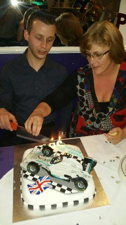 Pleasing Chriss Birthday Cake Picture Of Shad Restaurant Herne Bay Personalised Birthday Cards Sponlily Jamesorg