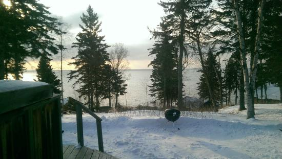 Solbakken on Superior: View of Lake Superior from our motel room