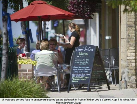 Outdoor Dining In Downtown West Allis Picture Of Urban Joe Cafe