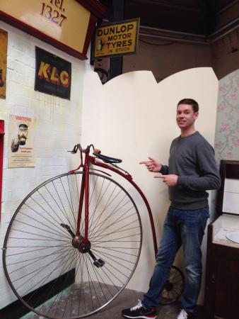 Abbey Pumping Station : Me next to a penny farthing