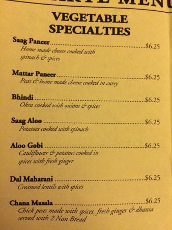 Bombay Cafe: Menu 5 of 8