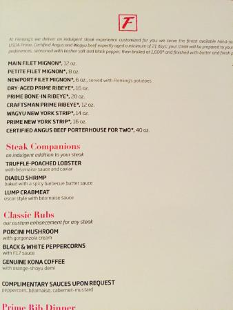 Fleming's Steakhouse Menu and Prices 2017 - RestaurantFoodMenu