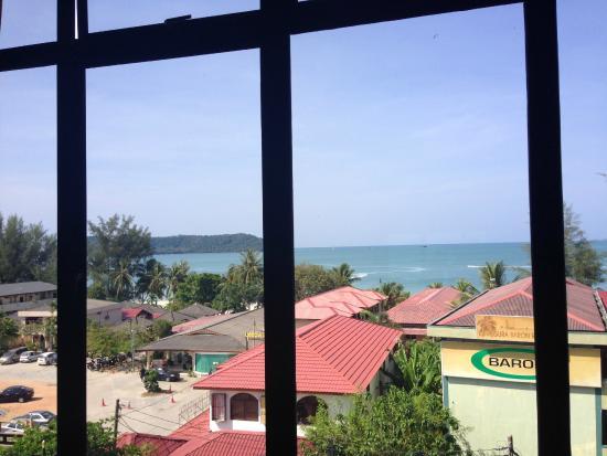 Langgura Baron Resort: View from room, mid morning