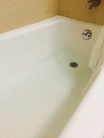 Hawthorn Suites by Wyndham Los Angeles: Clogged drain in the shower