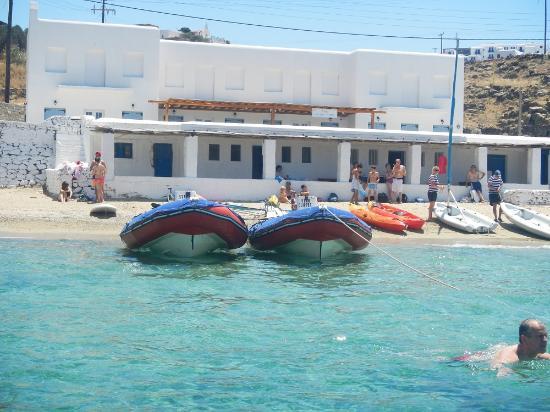Megali Ammos: ミコノス島へ上陸