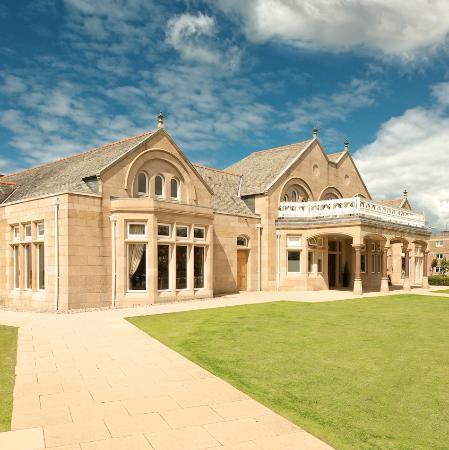 Troon, UK: The Clubhouse on a summers day