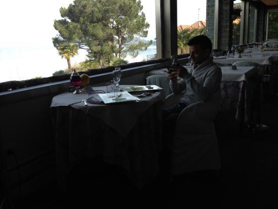 Hotel Conca Azzurra : Tavolo vista lago