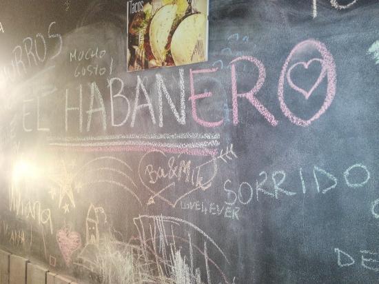 Parete Di Lavagna Prezzo : La parete lavagna foto di el habanero ristorante pontedera