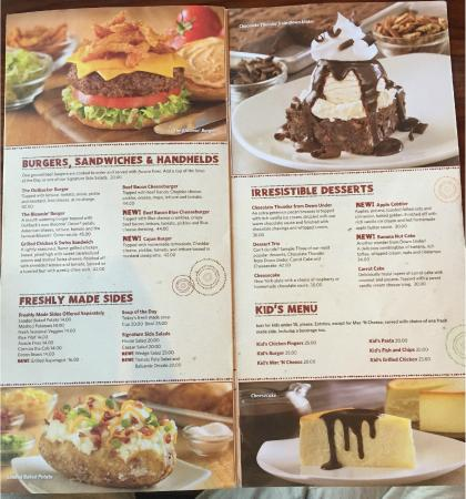 Outback Steakhouse: menu