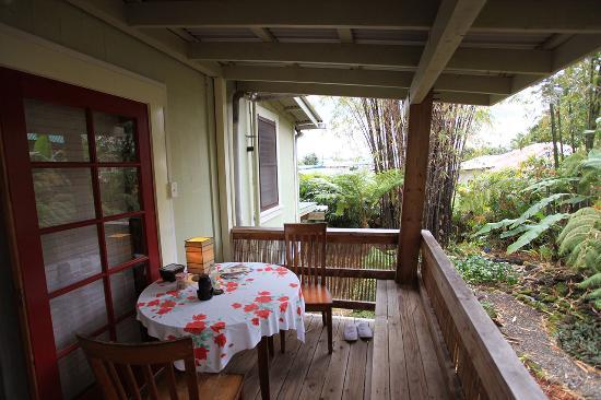 Hilo Bay Hale Bed & Breakfast: Lanai