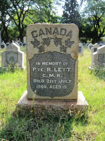 Heroes' Acre Church Street Cemetery: New Canuck Marker