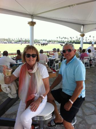Empire Polo Club: bar stool in the 2nd row of the main tents provide a great view