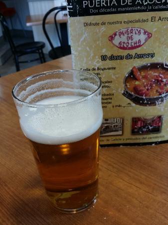 Restaurante Arroceria Puerta de Atocha: Waiting beer