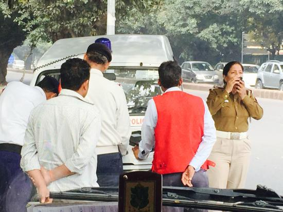 Jaipur, India: Police - Dangerous Vehicle and Driver