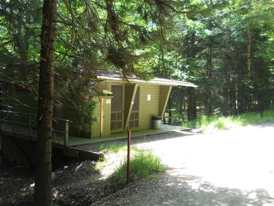 Hermit Island: Bathroom/Shoewer facilities