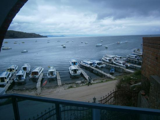 Perla del Lago : Utsikt från balkongen
