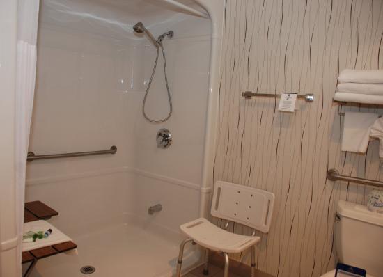 Bathroom picture of best western plus travel hotel for Best western bathrooms