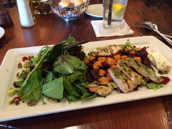 Biaggi's Ristorante Italiano : Life changing salad. Roasted beet salad and added the basil chicken. It was the best salad ever!
