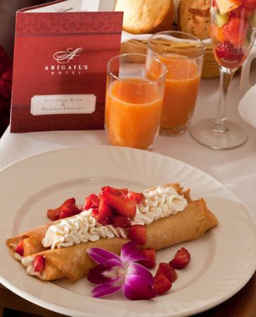 Abigail's Hotel: Gourmet Breakfast