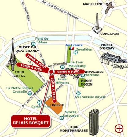 Hotel Relais Bosquet Paris: Map