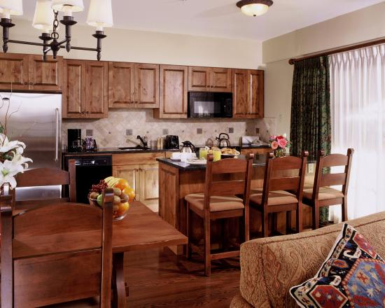 Teton Mountain Lodge & Spa- A Noble House Resort: Our spacious rooms feature fully equipped kitchens.